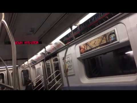 IRT Eastern parkway line:R62 & R142/A (2) (3) (4) (5) train action @Crown heights-Utica ave