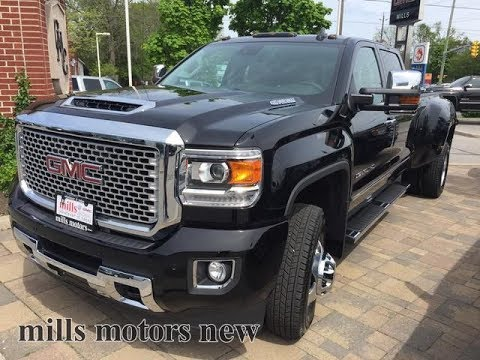 2017 GMC Sierra 3500HD Denali 4WD Crew Cab Dually 5th Wheel Prep Gooseneck Oshawa ON Stock #171433