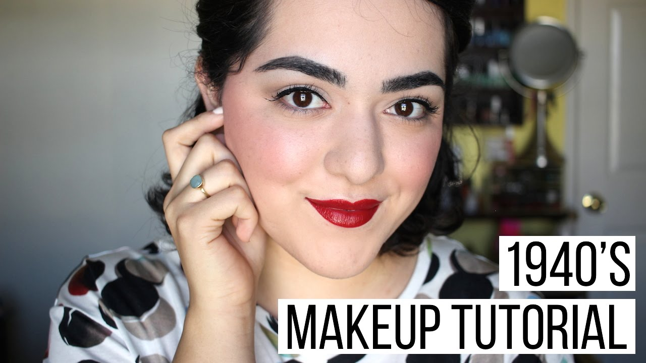 1940's Makeup Tutorial | Decades Collab - YouTube