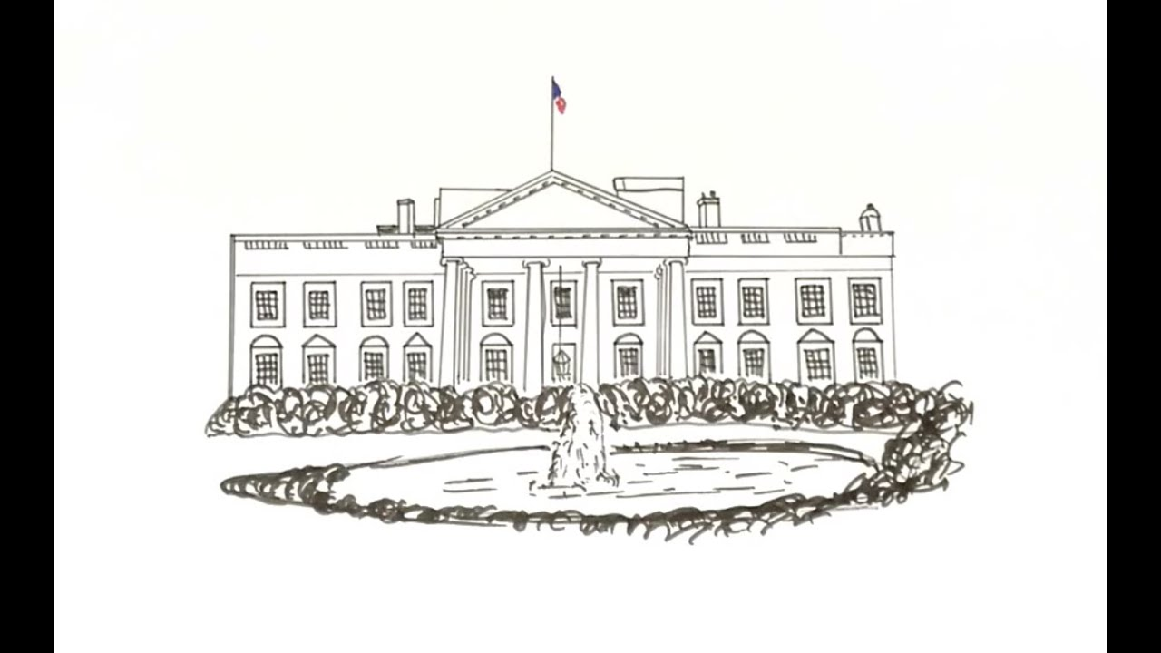 how to draw the white house youtube