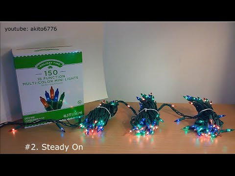 holiday time 150ct 16 function christmas lights youtube
