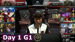G2 eSports vs SK Telecom T1 | Game 1 LoL MSI 2017 Group Stage | G2 vs SKT MSI G1