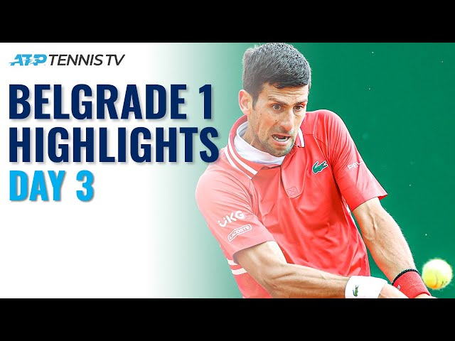 Djokovic Returns To Belgrade; Berrettini & Kecmanović In Action | Serbia Open 2021 Highlights Day 3