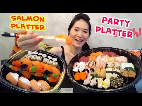 SUSHI! Salmon & Party Platter (Eating Show - Mukbang) S03E05