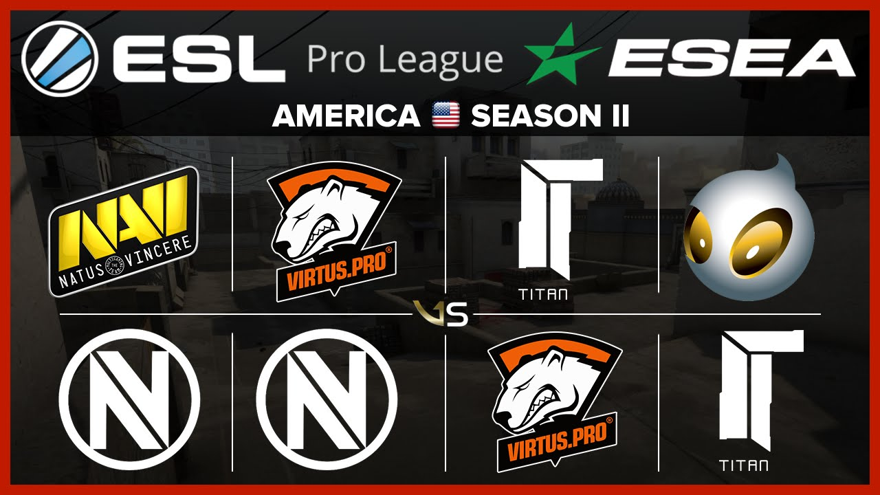 esl esea eu s2 w3d2 all matches na vi vs envyus vp vs envyus vp vs titan dignitas vs titan youtube youtube