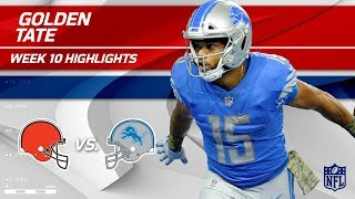 Golden Tate's 6 Grabs, 97 Yards & 1 TD! | Browns vs. Lions | Wk 10 Player Highlights
