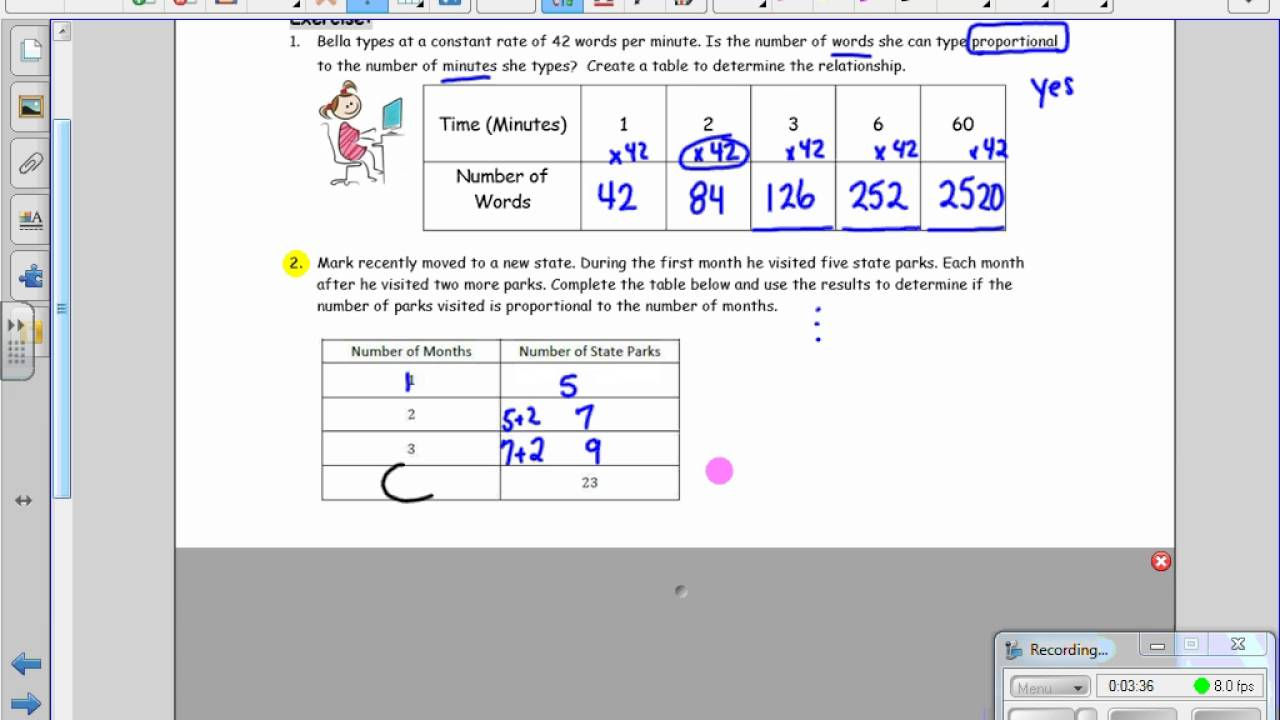 Grade 7 Module 1 Lesson 4 Identifying Proportional Relationships In