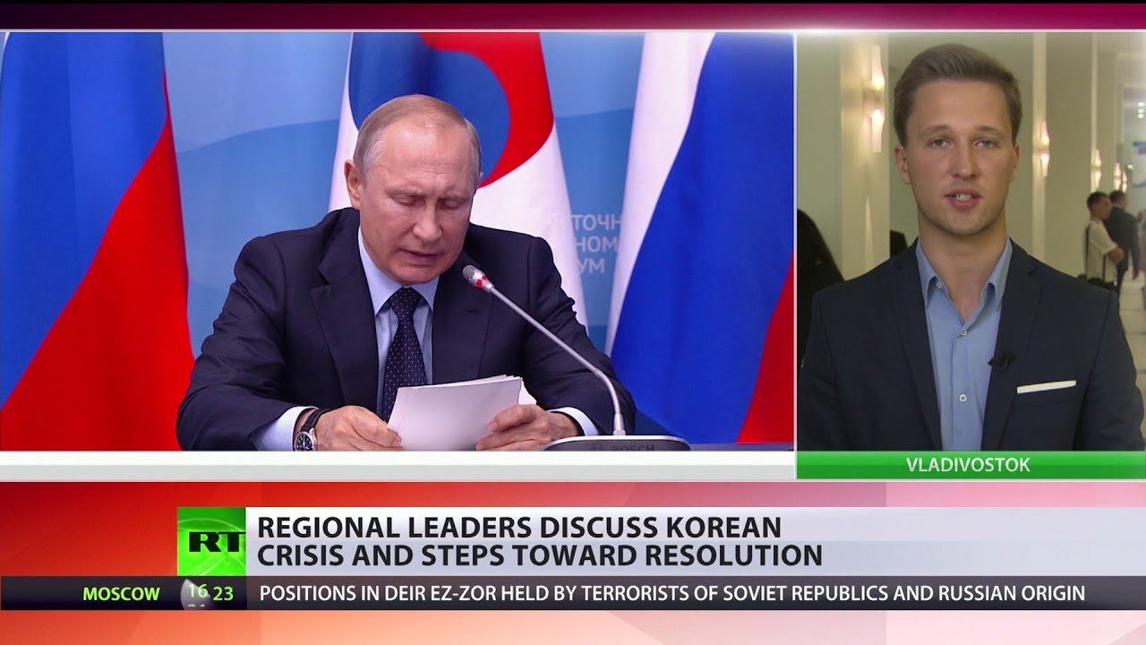 'Korea crisis can't be solved with sanctions and pressure': Putin during Economic forum
