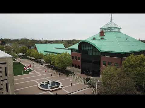 Drone views of Ohio Wesleyan University