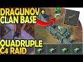 DRAGUNOV + CLAN BASE in SECTOR 7 - QUADRUPLE C4 RAID - Last Day On Earth Survival Update 1.9.4