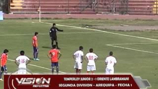 TEMPERLEY JR 2 - 1 O. LAMBRAMANI SEGUNDA DIVISION CERCADO - Visión Deportiva 2013 Pueblo TV Canal 39