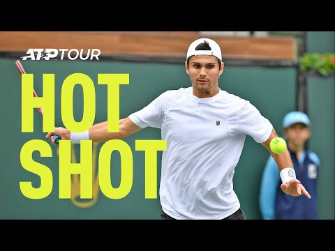 Hot Shot: Nobody Would Touch This Giron Forehand In Indian Wells 2019