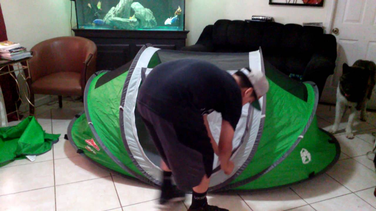 Coleman Pop Up Tent Review & Coleman Pop Up Tent Review - YouTube
