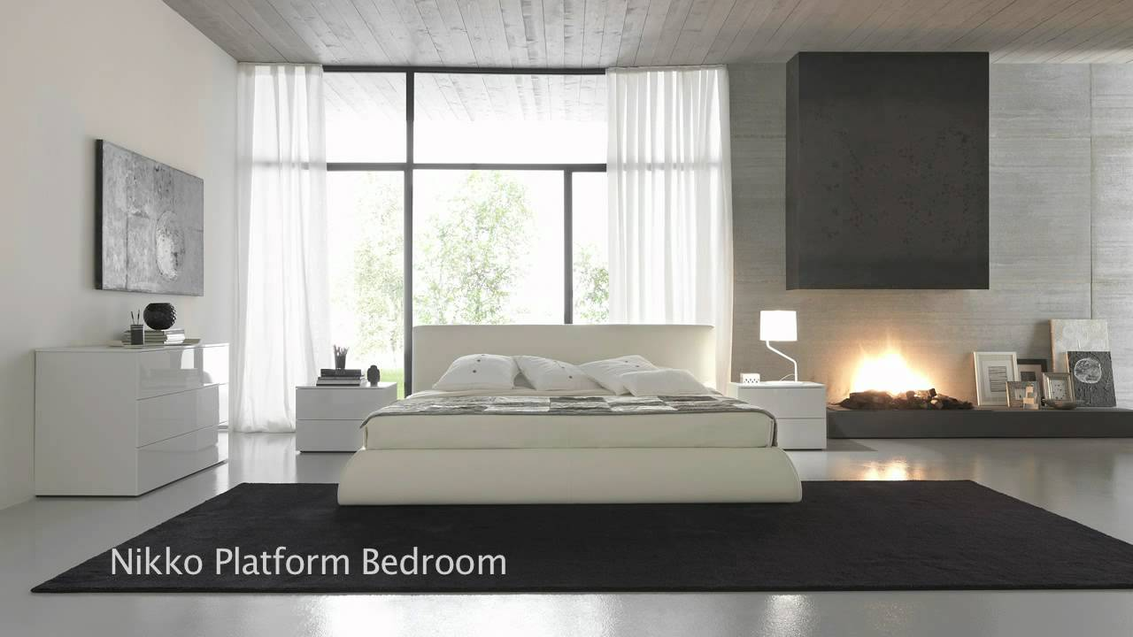 Modern Japanese Style Platform Beds, Bedroom Furniture   YouTube