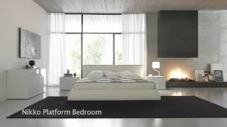 Modern Japanese Style Platform Beds, Bedroom Furniture
