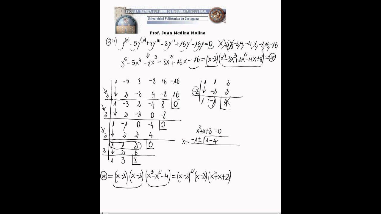 ecuaciones diferenciales homogeneas ejercicios resueltos pdf