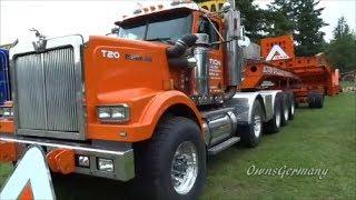 Western Star Heavy Haul Truck w/ a Huge Dual Lane Trailer
