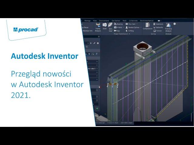 Przegląd nowości w Autodesk Inventor 2021