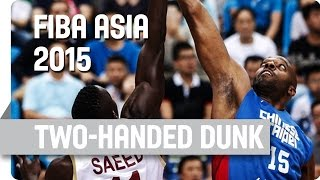 Davis III with the Two-Handed Dunk - 2015 FIBA Asia Championship