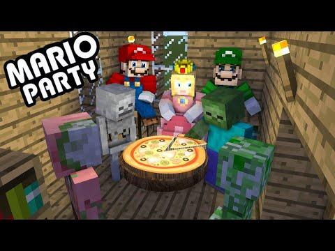 Monster School : Mario Party Challenge - minecraft animation