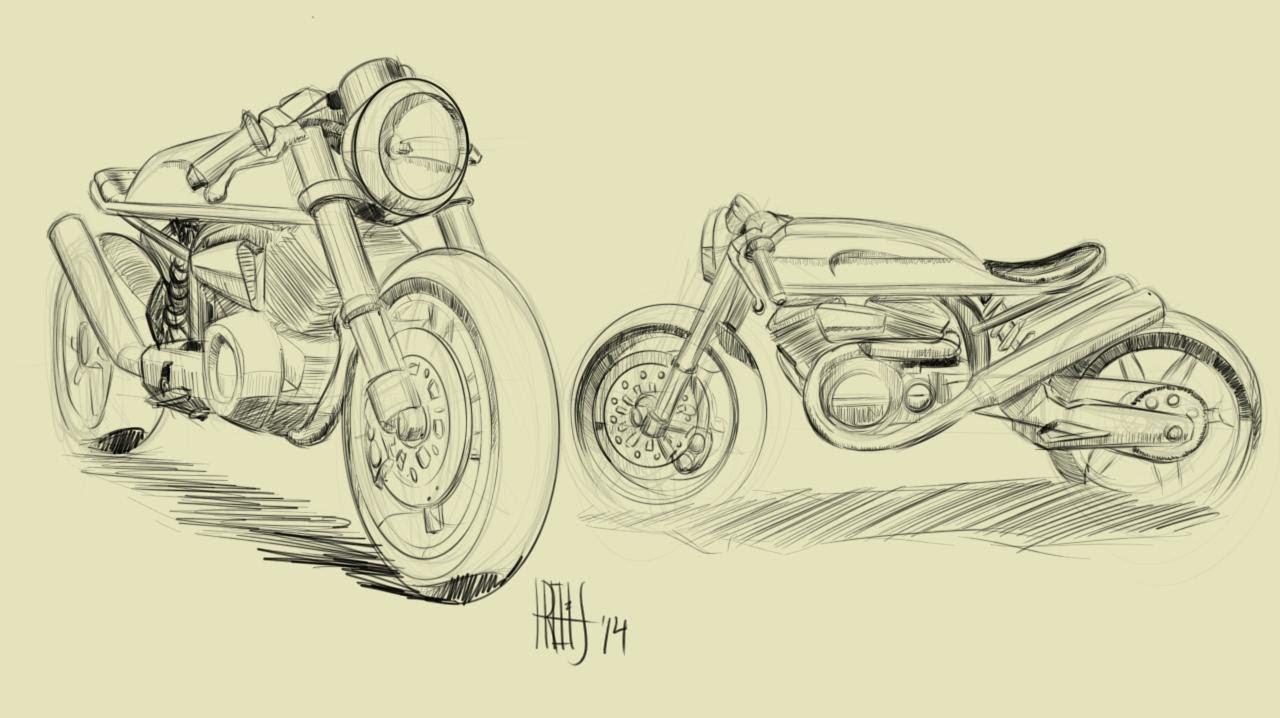 Cafe Racer 2 Live Design Bike Sketching Speed Paint Part I