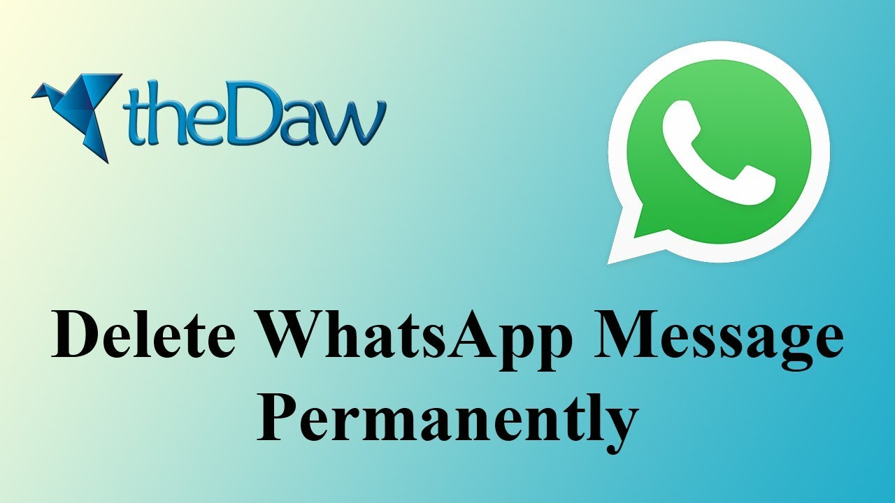 How to Delete WhatsApp Message For Everyone | WhatsApp Tricks | theDaw