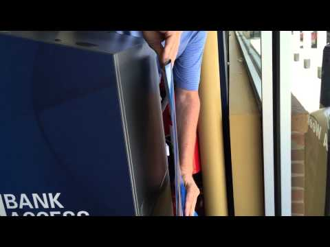 Magnetic ATM Decal Installation