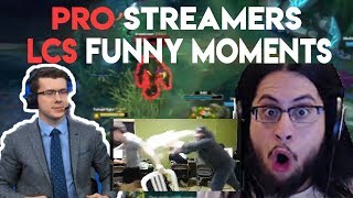 PRO PLAYER FUNNY/FAILS MOMENTS LCS & STREAMS Highlights | League of Legends