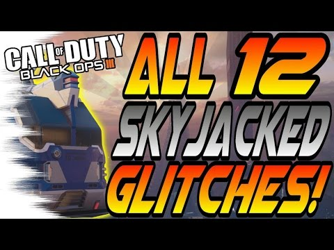 *NEW* ALL 12 SKYJACKED Glitches! - Wallbreaches, High Ledges (BO3 Awakening DLC Glitch)