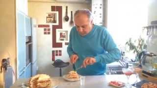 Шикарный блинный пирог к Веселой Масленице