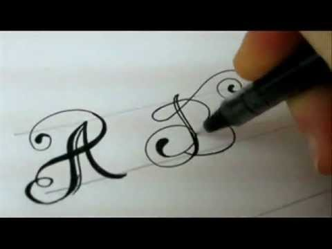 Fancy Letters - How To Design Your Own Swirled Letters - YouTube