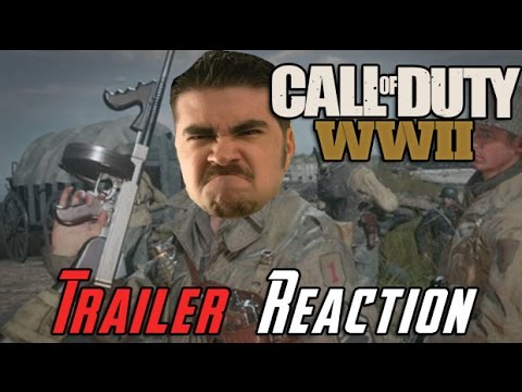 Call of Duty WWII Angry Trailer Reaction!
