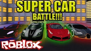 Who is the FASTEST?? Super Car Battle in Vehicle Simulator *ROBLOX*