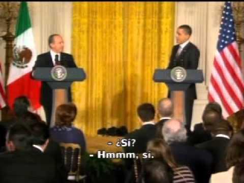 Calderón y Obama bromean con el futbol americano
