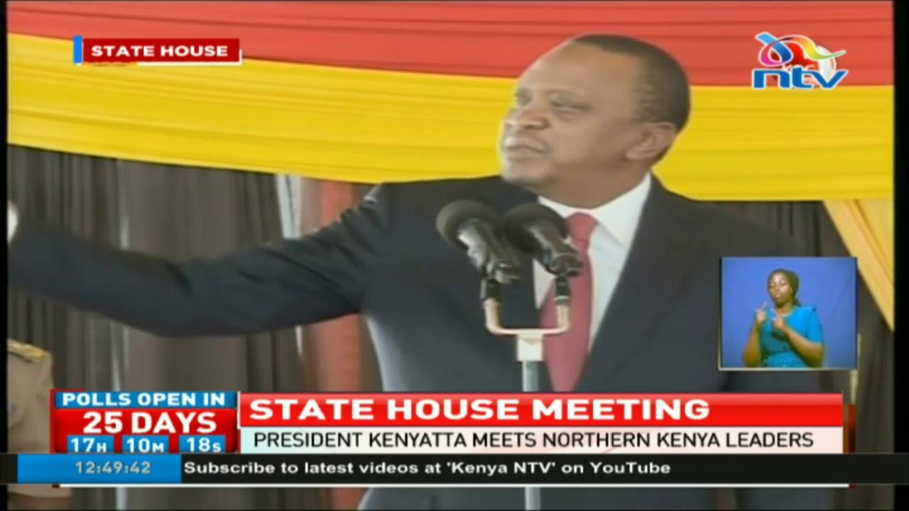 President Uhuru Kenyatta meets Northern Kenya leaders at state house