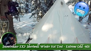 Snowtrekker EXP Shortwall Wiฑter Hot Tent - Extreme Cold -40c