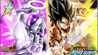 Crazy OP! Rainbow LR Goku & Frieza Boss Rush Stage 6: DBZ Dokkan Battle