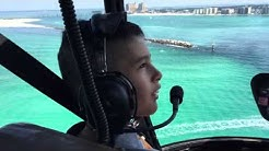 Helicopter tour over Destin beach Florida