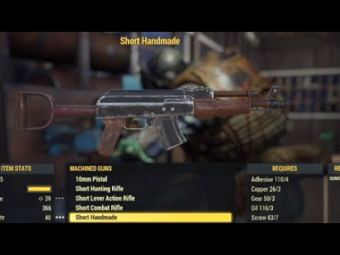 fallout 76 handmade plan fallout 76 handmade rifle ak 47 plan location 333