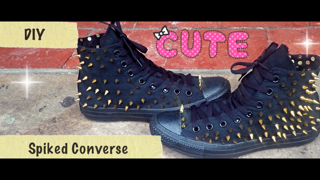 DIY Spiked Converse - YouTube