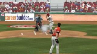 MLB 2K9 PC Gameplay SF@CIN (Giants vs Reds) 2 Inning Bottom