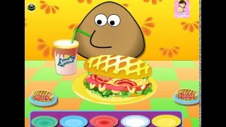 Мультик ИГРА для ДЕТЕЙ - POU. Поу готовит хот-дог. POU cooking a hot dog.Funny Game for Kids