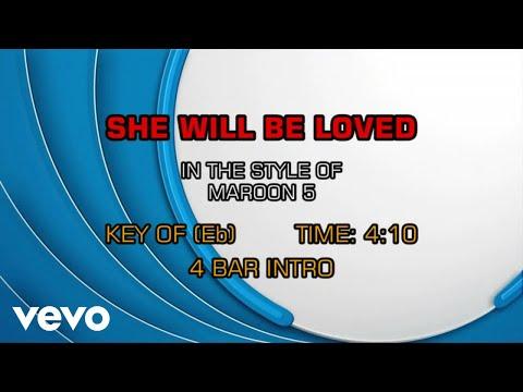 Maroon 5 - She Will Be Loved (Karaoke)