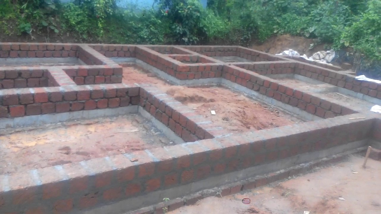 Foundation work house construction 9 youtube for Different foundations