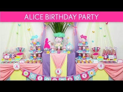 Alice in Wonderland Birthday Party Ideas // Wonderland Tea Party - B40