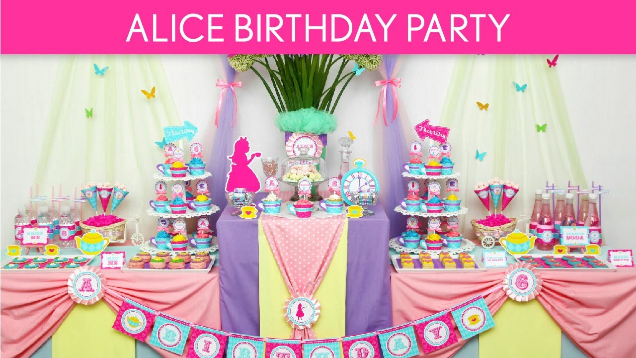 Mad hatter tea party decoration ideas - Alice In Wonderland Birthday Party Ideas Wonderland Tea Party B40 Youtube