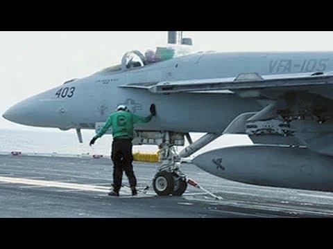 USS FORD CVN 78 Flight Ops VFA-105 Super Hornet F/A-18E