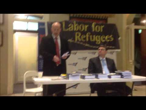 Labor For Refugees Book Launch Alternative to Offshore Processing  John Robertson