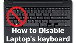 How to Disable or Turn off Laptop's Built in Keyboard