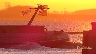 Medusa OT3095 MMSI 205309590 Emden Germany Sunset in Seaport Abendrot im Hafen